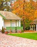 Casa agradable en el otoño Imagen de archivo libre de regalías