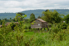 Casa agricola cambogiana Immagini Stock