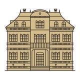 Casa aislada en el fondo blanco Imágenes de archivo libres de regalías