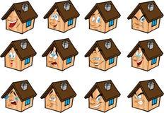 casa ajustada das ilustrações do vetor Foto de Stock Royalty Free