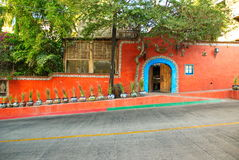 Casa alaranjada colorida Fotografia de Stock Royalty Free