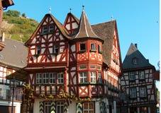 Casa alemana típica Imágenes de archivo libres de regalías