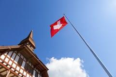 Casa alpestre en Interlaken imágenes de archivo libres de regalías