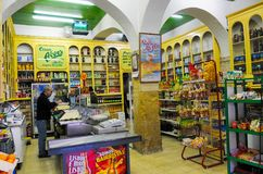 Portuguese Vintage Grocery Store, Lisbon Typical Neighborhood Establishment Royalty Free Stock Photos