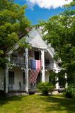 Casa amarela de Nova Inglaterra Fotos de Stock