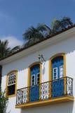 Casa amarela em Paraty, Brasil Foto de Stock Royalty Free