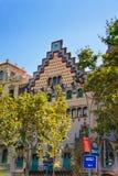 Casa Amatller στο φραγμό της ασυμφωνίας σε Eixample στη Βαρκελώνη Στοκ Εικόνες