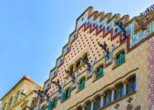 Casa Amatller στο φραγμό της ασυμφωνίας σε Eixample της Βαρκελώνης Στοκ φωτογραφία με δικαίωμα ελεύθερης χρήσης