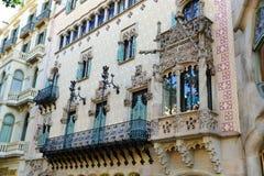 Casa Amatller, Barcelona, Spanien Arkivfoto