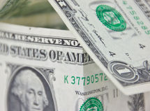 Casa americana da conta de dólar - close up macro Foto de Stock Royalty Free