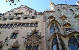 Casa Ametller and Casa Batllo in Barcelona, Spain Stock Images