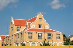 Casa anaranjada Fotos de archivo