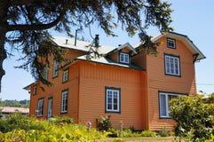 Casa anaranjada Fotografía de archivo libre de regalías