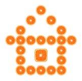 Casa anaranjada del slince Fotos de archivo libres de regalías