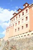 Casa anaranjada en Pisek Imagen de archivo libre de regalías