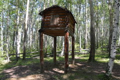 Casa antica di sepoltura, Siberia Immagine Stock