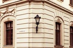 Casa antiga na cidade Eger, Hungria Fotos de Stock Royalty Free