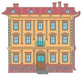 Casa antigua stock de ilustración