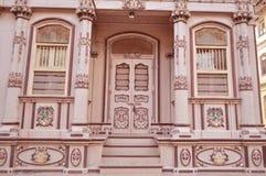 Casa antigua en el vad de Bohra, Sidhpur, Gujarat Imagen de archivo libre de regalías