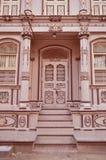 Casa antigua en el vad de Bohra, Sidhpur, Gujarat Imagen de archivo