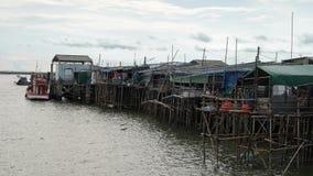 Casa ao lado do porto Imagem de Stock
