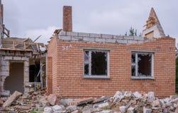 Casa após a explosão Foto de Stock