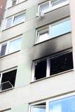 Casa após o fogo Fotos de Stock Royalty Free
