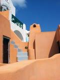 Casa-Appartements em Santorini, Grécia Fotografia de Stock