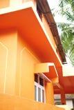 Casa arancione Fotografia Stock