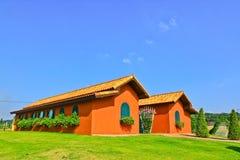 Casa arancione Immagine Stock Libera da Diritti