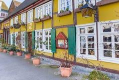Casa armata in legno metà variopinta in città storica Lippstadt fotografie stock libere da diritti