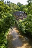Casa armata in legno in Waiblingen, rem Murr Kreis, Germania immagine stock