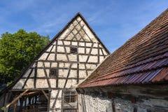 Casa armata in legno in Waiblingen, rem Murr Kreis, Germania immagine stock libera da diritti