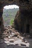 Casa arruinada en Lifta Foto de archivo