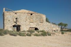 Casa arruinada na zona abandonada Imagem de Stock Royalty Free