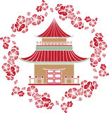Casa asiática Imagen de archivo libre de regalías