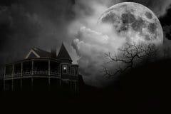 Casa assombrada imagem de stock