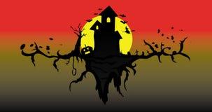 Casa assombrada Imagens de Stock