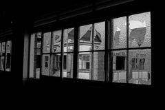 Casa assombrada abandonada Imagens de Stock
