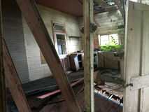 Casa assombrada condenada velha Imagens de Stock Royalty Free