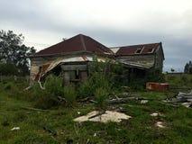 Casa assombrada condenada velha Fotografia de Stock Royalty Free