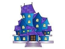 Casa assombrada desenhos animados da ilustração do vetor imagens de stock royalty free