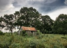 Casa assombrada dilapidada foto de stock royalty free