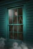 Casa assombrada Ghost, mulher inoperante imagens de stock royalty free