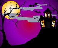 Casa assombrada Halloween   Imagem de Stock Royalty Free