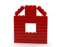 Casa astratta dai cubi di plastica illustrazione di stock