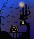 Casa asustadiza - fondo de Halloween Fotos de archivo
