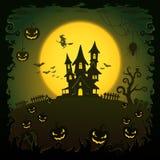 Casa asustadiza, fondo de Halloween Imagen de archivo libre de regalías