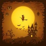 Casa asustadiza, fondo de Halloween Fotos de archivo libres de regalías