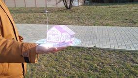 Casa aumentada 3d de Eco de la tecnología de la realidad rendir metrajes